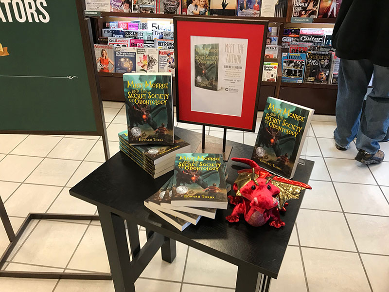 Matt Monroe books on table at Barnes & Noble